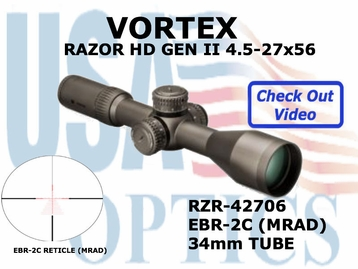 "VORTEX RAZOR HD GEN II 4.5-27x56 EBR-2C MRAD <STRONG><FONT COLOR = ""RED"">LIMITED QUANTITIES AVAILABLE</FONT><BR></STRONG>"