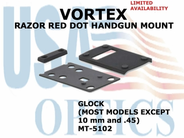 VORTEX RAZOR RED DOT HANDGUN MOUNT (GLOCK 9mm)