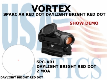 VORTEX SPARC AR RED DOT DAYLIGHT BRIGHT RED DOT 2 MOA