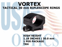 VORTEX TACTICAL RIFLESCOPE RING (1)<BR>30mm HIGH - 1.18 Inches - 30.0 mm