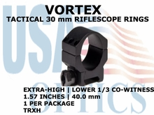 VORTEX TACTICAL RIFLESCOPE RING (1)<BR>30mm EXTRA HIGH LOWER 1/3 CO-WITNESS - 1.57 Inches - 40.0 mm