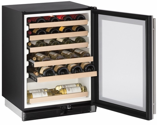 "1024WCS00B U-Line Wine Captain 24"" Wide Wine Cooler with Mechanical Cooling - Field Reversible - Stainless Steel"
