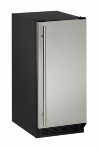 "1215RS-00B U-Line 1000 Series 15"" Solid Door Refrigerator - Field Reversible - Stainless Steel"