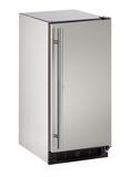 "1215RSOD00B U-Line Outdoor Series 15"" Outdoor Refrigerator - Field Reversible - Stainless Steel"
