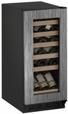"1215WCINT00B U-line 1000 Series 15"" Wide Wine Cooler with Mechanical Cooling - Field Reversible - Integrated Frame Custom Panel"