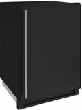 """1224FZRB00A U-Line 24"""" 2000 Series Freezer with LED Lighting and Digital Touch Pad Controls - Reversible Hinge - Black"""
