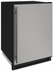 "1224FZRS00A U-Line 24"" 2000 Series Freezer with LED Lighting and Digital Touch Pad Controls - Reversible Hinge - Stainless Steel"
