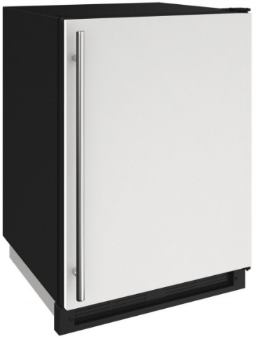 "1224FZRW00A U-Line 24"" 2000 Series Freezer with LED Lighting and Digital Touch Pad Controls - Reversible Hinge - White"