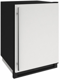 """1224FZRW00A U-Line 24"""" 2000 Series Freezer with LED Lighting and Digital Touch Pad Controls - Reversible Hinge - White"""