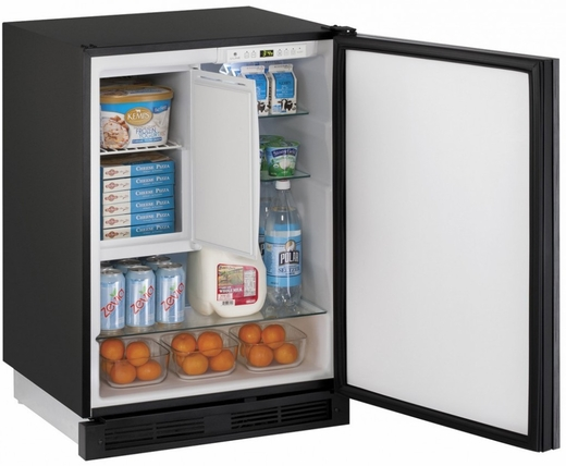 "1224RFINT00B U-Line 24"" Wide 1000 Series Combo Refrigerator / Freezer - Field Reversible - Integrated Solid Custom Panel"