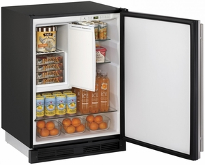 "1224RFS-00B U-Line 24"" Wide 1000 Series Combo Refrigerator / Freezer - Field Reversible - Stainless Steel"