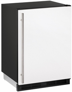 "1224RFW-00B U-Line 24"" Wide 1000 Series Combo Refrigerator / Freezer - Field Reversible - White"