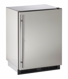 "1224RSOD00B U-Line Outdoor Series 24"" Outdoor Refrigerator with Lock - Field Reversible - Stainless Steel"