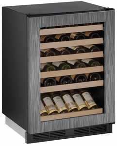 "1224WCINT-00B U-Line 1000 Series 24"" Wide Wine Captain with Digital Cooling - Field Reversible - Integrated Custom Panel Frame"