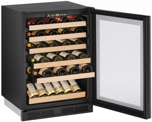 "1224WCINT00B U-Line 1000 Series 24"" Wide Wine Captain with Digital Cooling - Field Reversible - Integrated Custom Panel Frame"