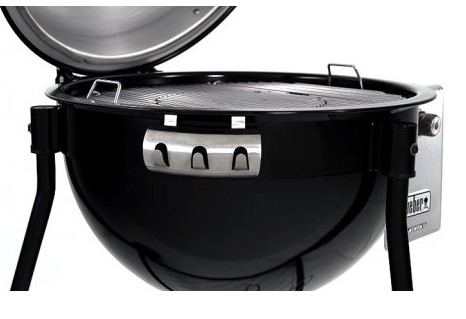 """18501001 Weber 24"""" Summit Charcoal Grilling Center with Rapidfire Lid Damper and Built-In Lid Thermometer - Black"""