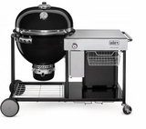 "18501001 Weber 24"" Summit Charcoal Grilling Center with Rapidfire Lid Damper and Built-In Lid Thermometer - Black"