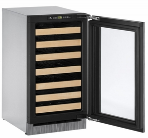 """2218WCINT-00B U-Line 2000 Series 18"""" Wide Wine Captain with Digital Convection Cooling - Reversible Hinge - Integrated Frame Custom Panel"""