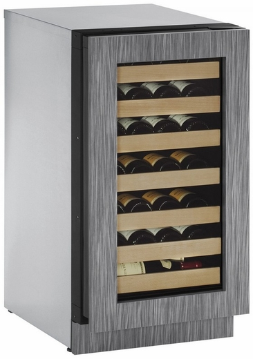 "2218WCINT00B U-Line 2000 Series 18"" Wide Wine Captain with Digital Convection Cooling - Reversible Hinge - Integrated Frame Custom Panel"