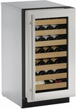 "2218WCS00B U-Line 2000 Series 18"" Wide Wine Captain with Digital Convection Cooling - Reversible Hinge - Stainless Steel"