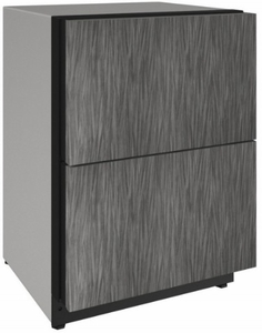 """2224DWRINT00A U-Line 24"""" 2000 Series Integrated Solid Refrigerator Drawers with LED Lighting and Digital Touch Pad Controls - Custom Panel"""
