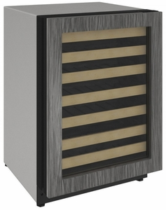 """2224WCINT00A U-Line 2000 Series 24"""" Wide Wine Captain with Convection Cooling System and Digital Touch Pad Controls - Reversible Hinge - Integrated Frame Custom Panel"""