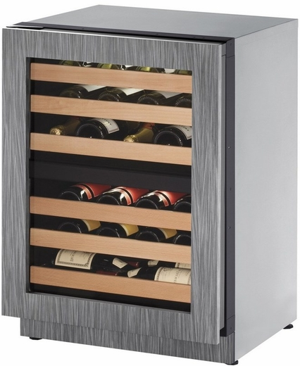 "2224ZWCINT01A U-Line 2000 Series 24"" Wide Wine Captain with Independently Controlled Dual Zones - Left Hand Hinge - Integrated Frame Custom Panel"