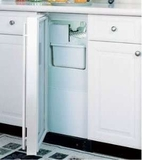"25iM-BB-O-R Marvel 15"" Indoor Crescent Ice Machine - Black Cabinet, Overlay Panel - Right Hinge - CLEARANCE OPEN BOX ITEM"
