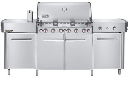 weber summit grill center with 6 burners and tuckaway rotisserie natural gas stainless steel