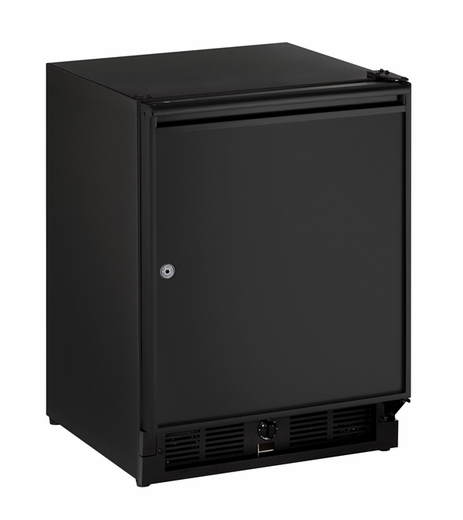 "29RB15A U-Line ADA Series 21"" ADA Solid Door Refrigerator with Lock - Left Hinge - Black"