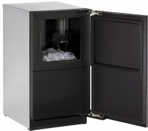 """3018CLRINT-00B U-Line 3000 Modular Series 18"""" Wide Clear Ice Machine - Field Reversible Hinge - Pump Not Included - Integrated Solid Custom Panel"""