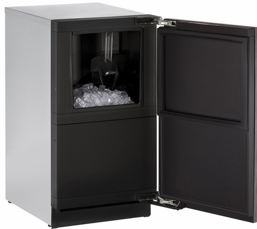 "3018CLRINT00B U-Line 3000 Modular Series 18"" Wide Clear Ice Machine - Field Reversible Hinge - Pump Not Included - Integrated Solid Custom Panel"