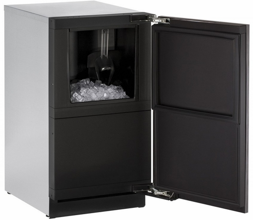 "3018CLRINT40B U-Line 3000 Modular Series 18"" Wide Clear Ice Machine - Field Reversible Hinge - Pump Included - Integrated Solid Custom Panel"