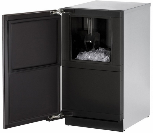 """3018CLRINT41A U-Line 3000 Modular Series 18"""" Wide Clear Ice Machine - Left Hand Hinge - Pump Included - Integrated Solid Custom Panel"""