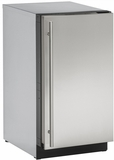 "3018CLRS00B U-Line 3000 Modular Series 18"" Wide Clear Ice Machine - Field Reversible Hinge - Pump Not Included - Stainless Steel"