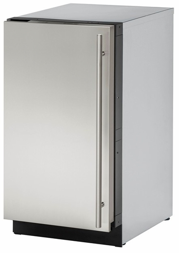 "3018CLRS01A U-Line 3000 Modular Series 18"" Wide Clear Ice Machine - Left Hand Hinge - Pump Not Included - Stainless Steel"
