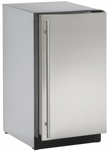 "3018CLRS40B U-Line 3000 Modular Series 18"" Wide Clear Ice Machine - Field Reversible Hinge - Pump Included - Stainless Steel"