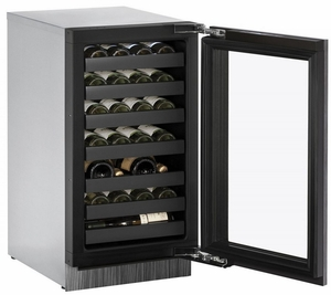 "3018WCINT-00B U-Line 3000 Modular Series 18"" Wide Wine Captain with Convection Cooling - Reversible Hinge - Integrated Frame Custom Panel"