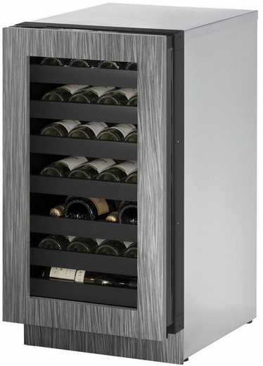 """3018WCINT01A U-Line 3000 Modular Series 18"""" Wide Wine Captain with Convection Cooling - Left Hand Hinge - Integrated Frame Custom Panel"""