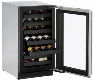 """3018WCS-00B U-Line 3000 Modular Series 18"""" Wide Wine Captain with Convection Cooling - Reversible Hinge - Stainless Steel"""