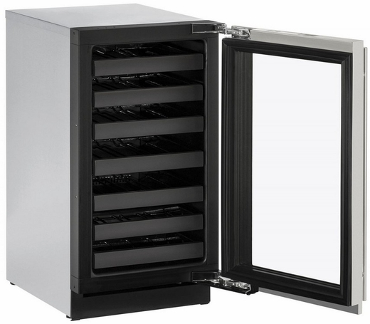 "3018WCS00B U-Line 3000 Modular Series 18"" Wide Wine Captain with Convection Cooling - Reversible Hinge - Stainless Steel"