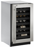 """3018WCS13B U-Line 3000 Modular Series 18"""" Wide Wine Captain with Convection Cooling - Right Hand Hinge with Lock  - Stainless Steel"""