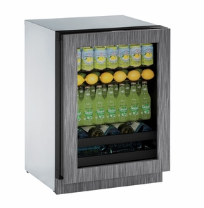 "3024BEVINT01A U-Line Modular 3000 Series 24"" Beverage Center - Left Hinge - Integrated Frame"