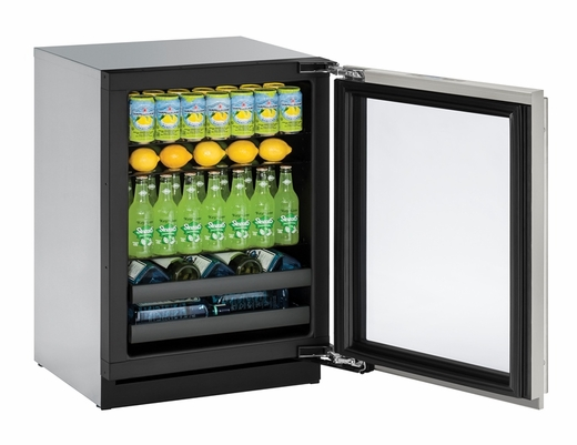 "3024BEVS13B U-Line Modular 3000 Series 24"" Beverage Center with Lock - Right Hinge - Stainless Frame"