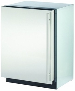 """3024RFS01 U-Line 3000 Series 24"""" Solid Door Refrigerator Model Digitally-Controlled Single-Zone Convection Cooling System - Left Hinge - Stainless Steel"""