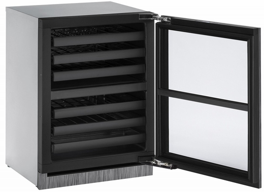"""3024ZWCINT00B U-Line 3000 Modular Series 24"""" Wine Captain with Independently Controlled Dual Zones - Reversible Hinge - Integrated Frame Custom Panel"""