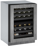 "3024ZWCINT00B U-Line 3000 Modular Series 24"" Wine Captain with Independently Controlled Dual Zones - Reversible Hinge - Integrated Frame Custom Panel"