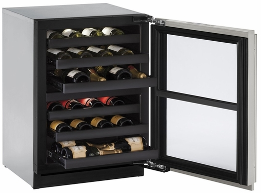 "3024ZWCINT60B U-Line 3000 Modular Series 24"" Wine Captain with Independently Controlled Dual Zones - Reversible Hinge - Integrated Solid Custom Panel"
