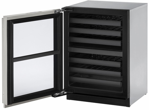 """3024ZWCINT61A U-Line 3000 Modular Series 24"""" Wine Captain with Independently Controlled Dual Zones - Left Hand Hinge - Integrated Solid Custom Panel"""