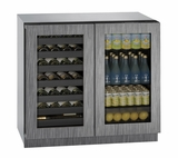 "3036BVWCINT00B U-Line Modular 3000 Series 36"" Beverage Center with Double Doors - Integrated Frame"